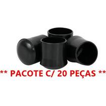 Ponteira P/ Cadeira Borracha 1/4 (embalagem C/ 20) - Preto
