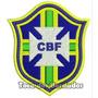 Patch Bordado Copa 2014 Seleção Brasil Escudo Cbf 9cm Sel26