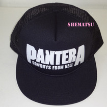 Bone Trucker Tela Aba Reta Pantera Cowboys From Hell