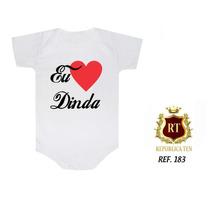 Bodies Personalizados Bori Body Infantil Bebê Eu Amo A Dinda