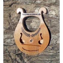 Lira Grega - Mini Harpa 15 Cordas C/ Chave Afinação