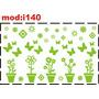 Adesivo I140 Vasos De Flores Borboletas Borboletinhas
