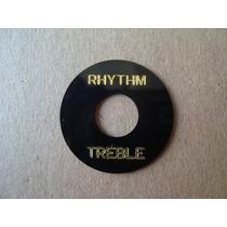 Treble/rhythm Escudo Para Chave Sg, Les Paul Preto/dourado