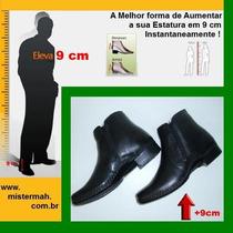 Sapato Para Aumento De Altura 9cm Mistermah Masculino Ziper