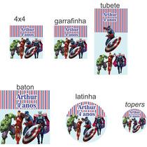 Rótulos Adesivos Personalizados Etiquetas Festas Vingadores