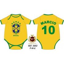 Body Infantil Copa Do Mundo 2014 Personalizamos O Nome Bebê
