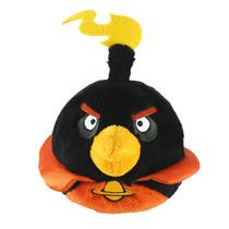 Pelucia Angry Birds Space Grande Preto Efeito Sonoro Rovio
