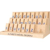 8002 - Painel Alfabeto Móvel Degrau - Alfabetização