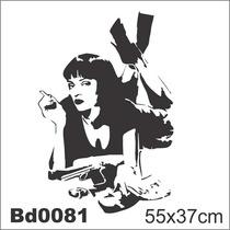 Adesivo Bd0081 Pulp Fiction Filme Mia Decoração Parede