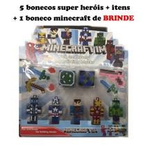 Minecraft Super Heróis Kit Com 8 Peças Unlimited