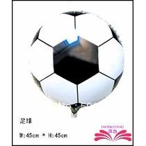 Balão Metalizado Bola De Futebol - Kit Com 10 Unidades