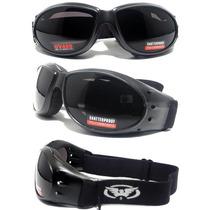 Óculos Eliminator Motociclista Capacete Aberto Lente Escura