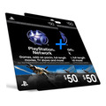 Playstation Network Card - Cartão Psn Card 100 - 2x 50$