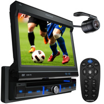 Dvd Positron Retrátil 7 Polegadas Touch Screen + Tv Digital
