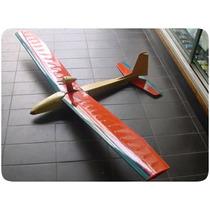 Kit De Aeromodelo Planador Gaivota - Rc 2 Canais