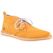 Sapato Casual Abonitado Amarelo Em Camurça Kildare Bk1085