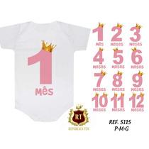 Kit 12 Bodies Body Personalizado Bori Bebê Mês A Mês
