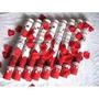 Lança Confetes Petalas De Rosas Caixa C/12 Un.30cm Cada