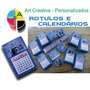 100 Mini Calendários, Imã De Geladeira, Personalizado Fotog.