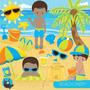 Kit Scrapbook Digital Praia Surf Hawaii Imagens Clipart Cod9