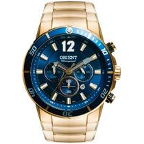 Relógio Orient Masculino Dourado Chronograph Mgssc007 D2kx