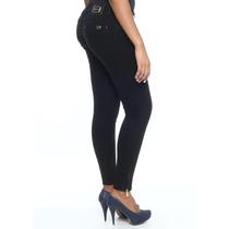 Calça Jeans Sawary Legging Modela E Levanta Bumbum Com Bojos