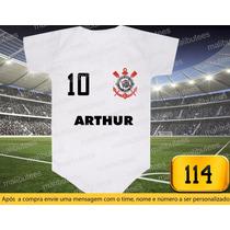 Corinthians Timão Futebol Body E Camiseta Personalizado