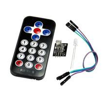 Kit Controle Remoto Ir + Receptor + Cabos Para Arduino E Pic