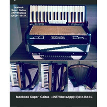 Acordeon Todeschini Super 5 80 Baixoselo Verde Impecavel .
