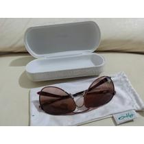 Óculos De Sol Oakley Feminino Marrom Original Aviador
