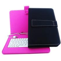 Kit Capa Com Teclado Usb Para Tablet 7 Cce Aoc Asus Dl Genes