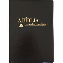 Bíblia De Estudo Em Ordem Cronológica Luxo Preta¿