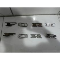 Emblema Ford Rural F 100 Peça Original