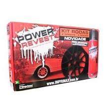 Envelopamento Liquido ! Power Revest ! Kit Roda Preto Fosco