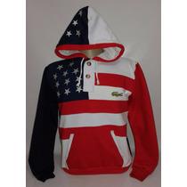 Moletom Modelo Canguru Bandeira Estados Unidos