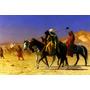 Cruzando Deserto Árabes Camelo Pintor Jean Gérôme Tela Repro