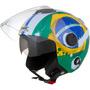Capacete De Moto Pro Tork New Atomic Bandeira Do Brasil