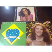 Lp Beth Carvalho - Lote Com Três Discos