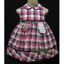 Vestido De Festa Infantil - Xadrez Rosa - 01 Ano - Promoção