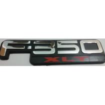 Emblema F-350 Xlt Cromado, Preto E Vermelho Ford