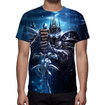 Camisa, Camiseta Game World Warcraft Wrath Of The Lich King