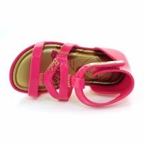 Sandalia Infantil Feminina Grendene Rosa Barbie Velcro