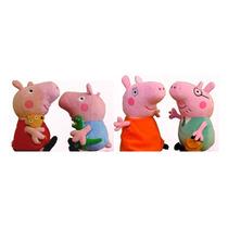 Peppa Pig Família 4 Personagens Pronta Entrega