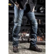 Calça Jeans Proteções Komine Para Motoqueiro-frete Grátis