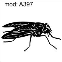 Adesivo A397 Barata Mosca Mosquito Inseto Abelha Voa Asas