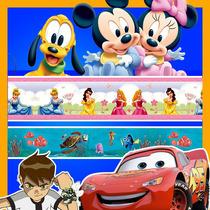 Faixa Border De Papel Parede Adesivo Lavável Infantil Disney