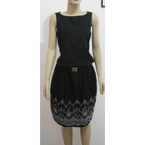 Vestido Preto Tricoline
