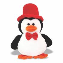 Pelúcia Pinguim Com Cartola - Animais Aquáticos - Soft Toys