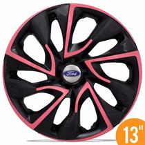 Jogo Calota Esportiva Aro 13 Ds4 Pink Ford Ka Fiesta Escort