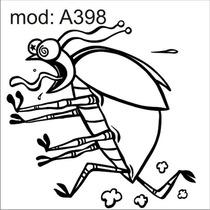 Adesivo A398 Barata Inseto Lingua Mosca Mosquito Besouro
